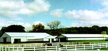 Marvin Walter Horse Complex Arena/Stall Barn/Feed Storage 24' X 100' - 80' X 120' Uni I Structural System